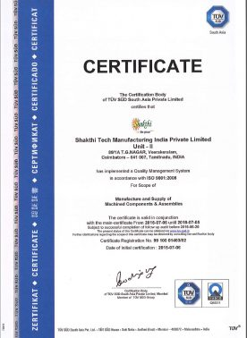 Unit II - ISO Certification